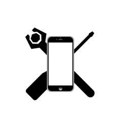 Repair phone icon vector