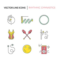 Rhythmic Gymnastics Icons vector
