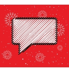 Sale doodle blank speech bubble box Winter season vector image