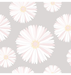 Seamless background with delicate flowers vector
