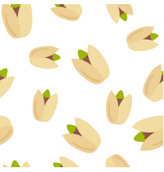 seamless pattern pistachio nuts vector image