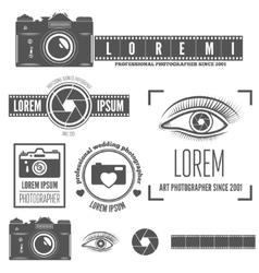 set badge emblem label and elements vector image