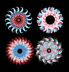 set bright interesting circular abstractions vector image
