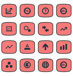Set of simple analytics icons vector
