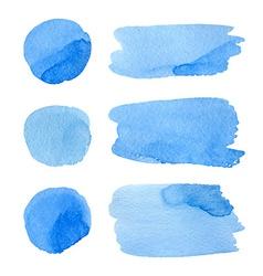 set watercolor stripes vector image