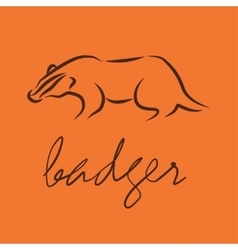 silhouette of a badger vector image