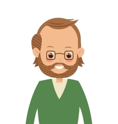 Single middle age man icon vector