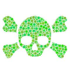 Skull crossbones mosaic of circles vector