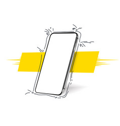 smartphone frameless blank screen rotated vector image
