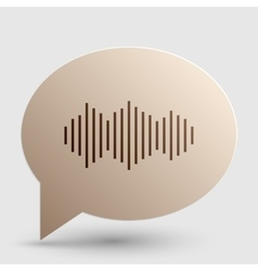 Sound waves icon Brown gradient icon on bubble vector