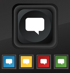 Speech bubble Chat think icon symbol Set of five vector