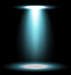 spotlight glow effect light beam aqua color vector image