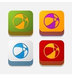 square button ball vector image