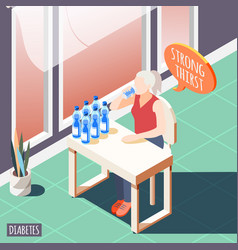 strong thirst isometric background vector image