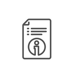 Technical information line icon instruction sign vector
