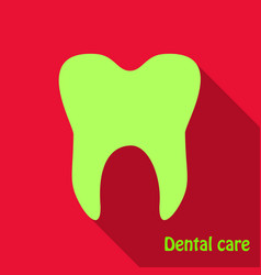 teeth icon dentist flat icon for mobile user vector image