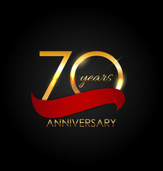 Template 70 years anniversary vector
