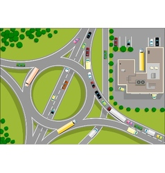 traffic roundabout vector image
