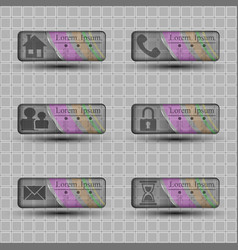 transparent banners with different character icons vector image