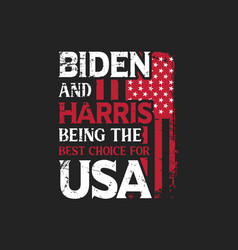 typographic slogan design for biden supporter vector image