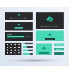 UI set the flat design trend vector image