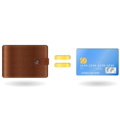 Wallet equal to a credit card vector image