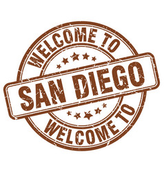 Welcome to san diego vector