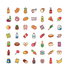 icons food shop vector image vector image