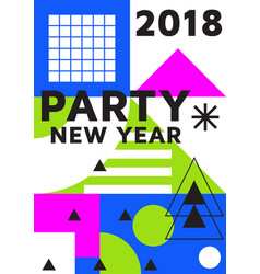 party new year bright post vector image