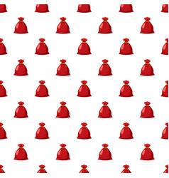 santa sack pattern vector image vector image