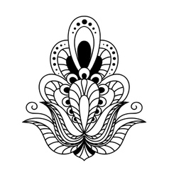 Ornate black and white vintage floral element vector image vector image