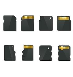 Set memory card vector image vector image
