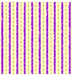 Striped yellow purple pattern vector image vector image