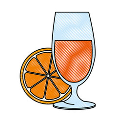 cup with orange juice vector image