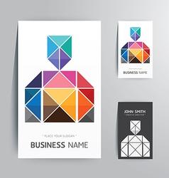 Modern creative business card man shape vector