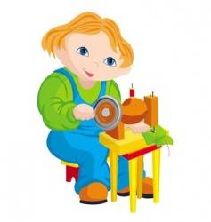 Child seamstress vector