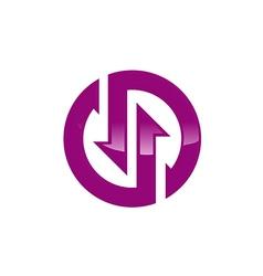 Circle technology icon geometry logo vector