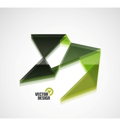 Colorful abstract 3d glossy shape business vector image vector image
