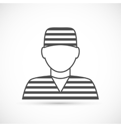 Criminal avatar icon vector image