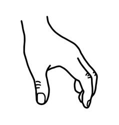 hand grabbing blank space - sketch vector image vector image