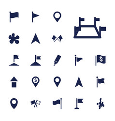 22 marker icons vector