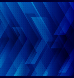 abstract blue tech background with big arrows vector image