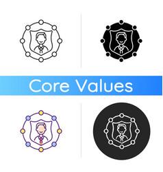 Accountability icon vector