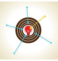 Arrow focus on new idea concept vector