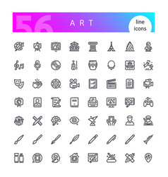 art line icons set vector image