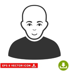 Bald Man EPS Icon vector