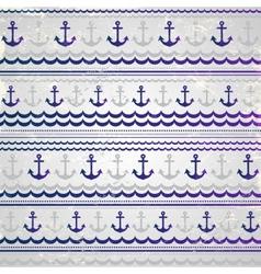 Beautiful anchor seamless vector image vector image