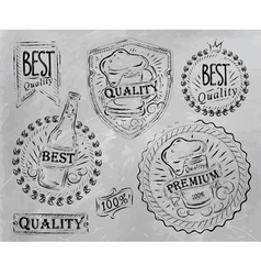 Beer Quality elements gray vector