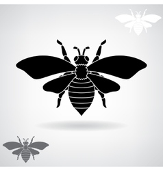 Black silhouette of the bee vector