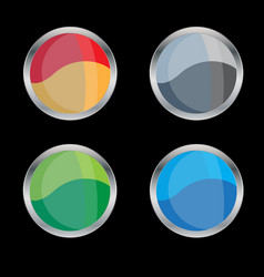 blank glossy badge or button vector image